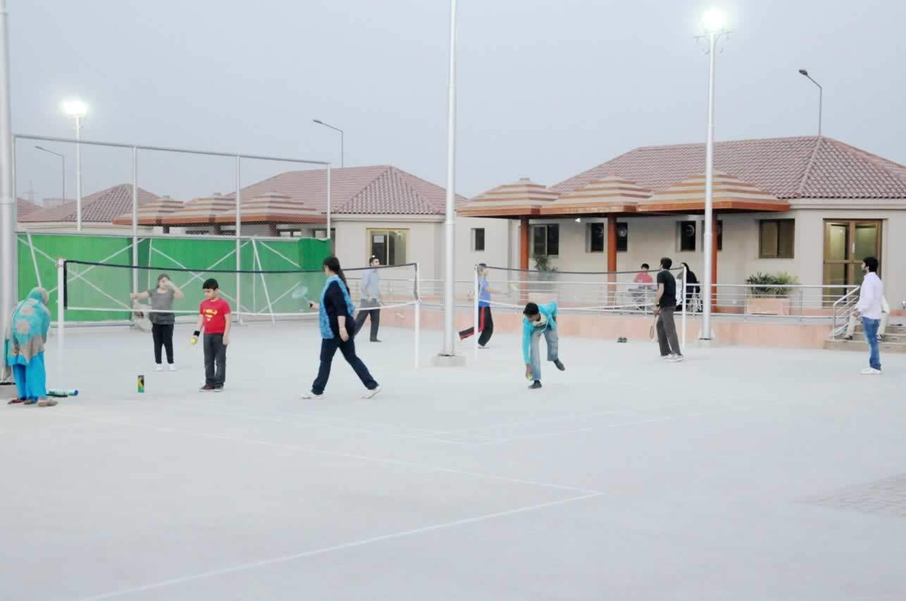 Playing badminton at Sports Complex Sector G DHA Lahore Phase V