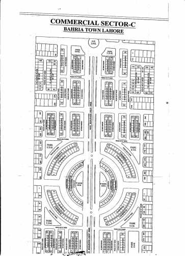 Bahria Town Sector C Commercial New Map