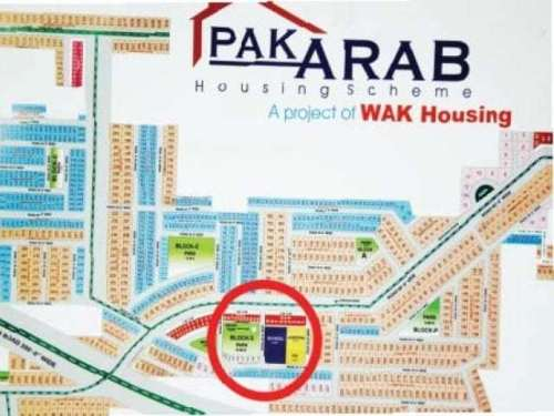 The original map for the society, which is controlled by the Lahore Development Authority (LDA), envisaged a school and hospital on a 9.5-kanal plot in Block B. PHOTO: EXPRESS
