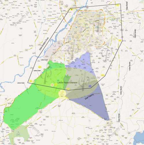 Lahore Future Extension (Projected)