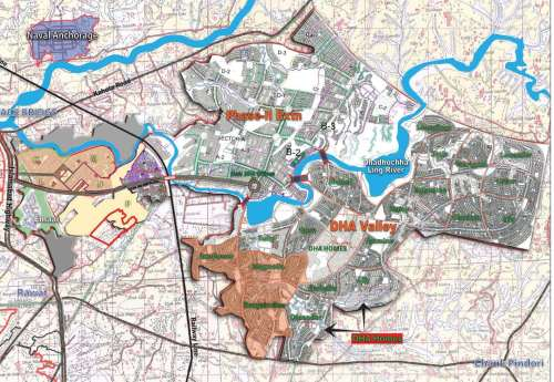 DHA Valley Islamabad Location Map