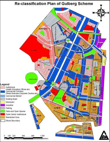 Re-Classification of Gulberg Scheme Lahore