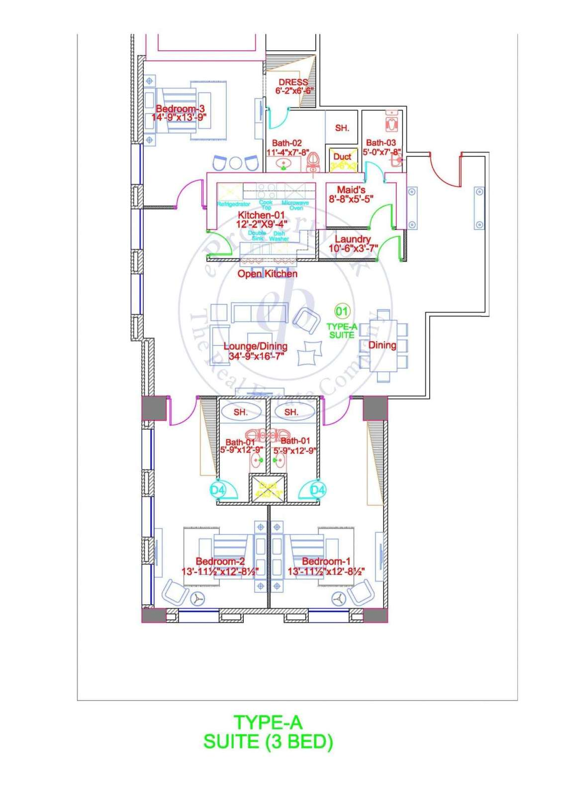 DHA Gold Crest Apartment Type A