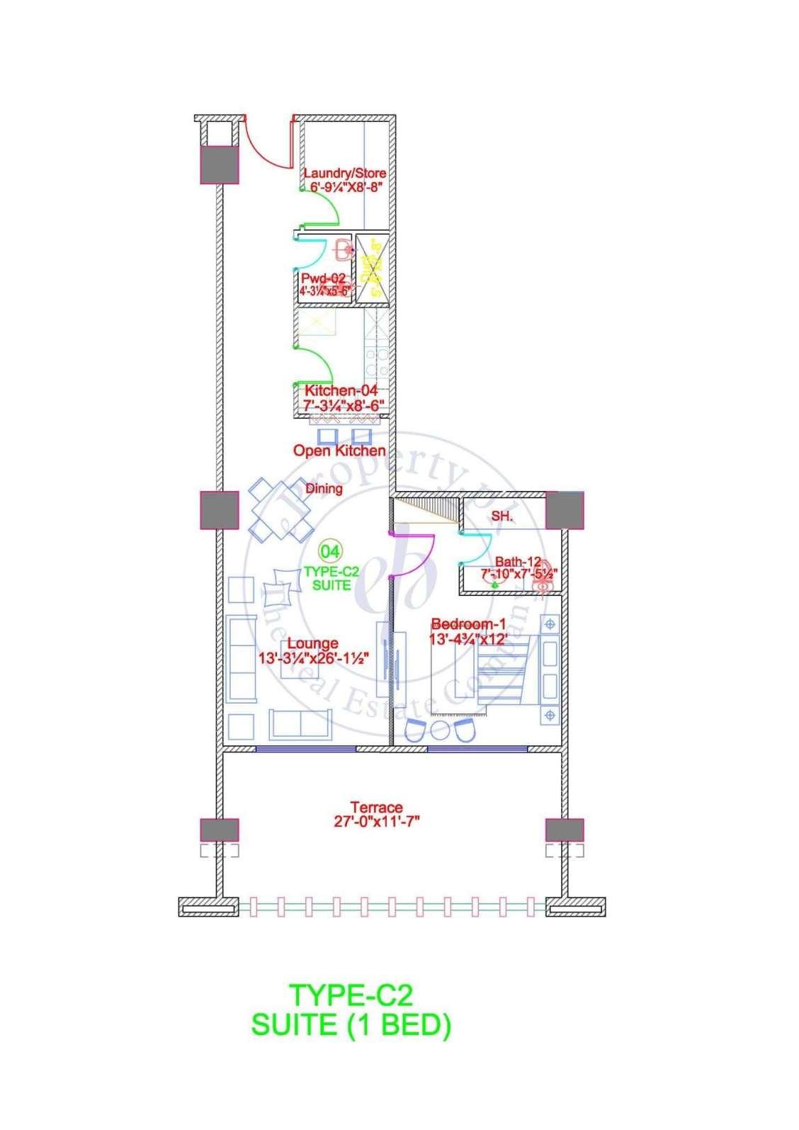 DHA Gold Crest Apartment Type C2