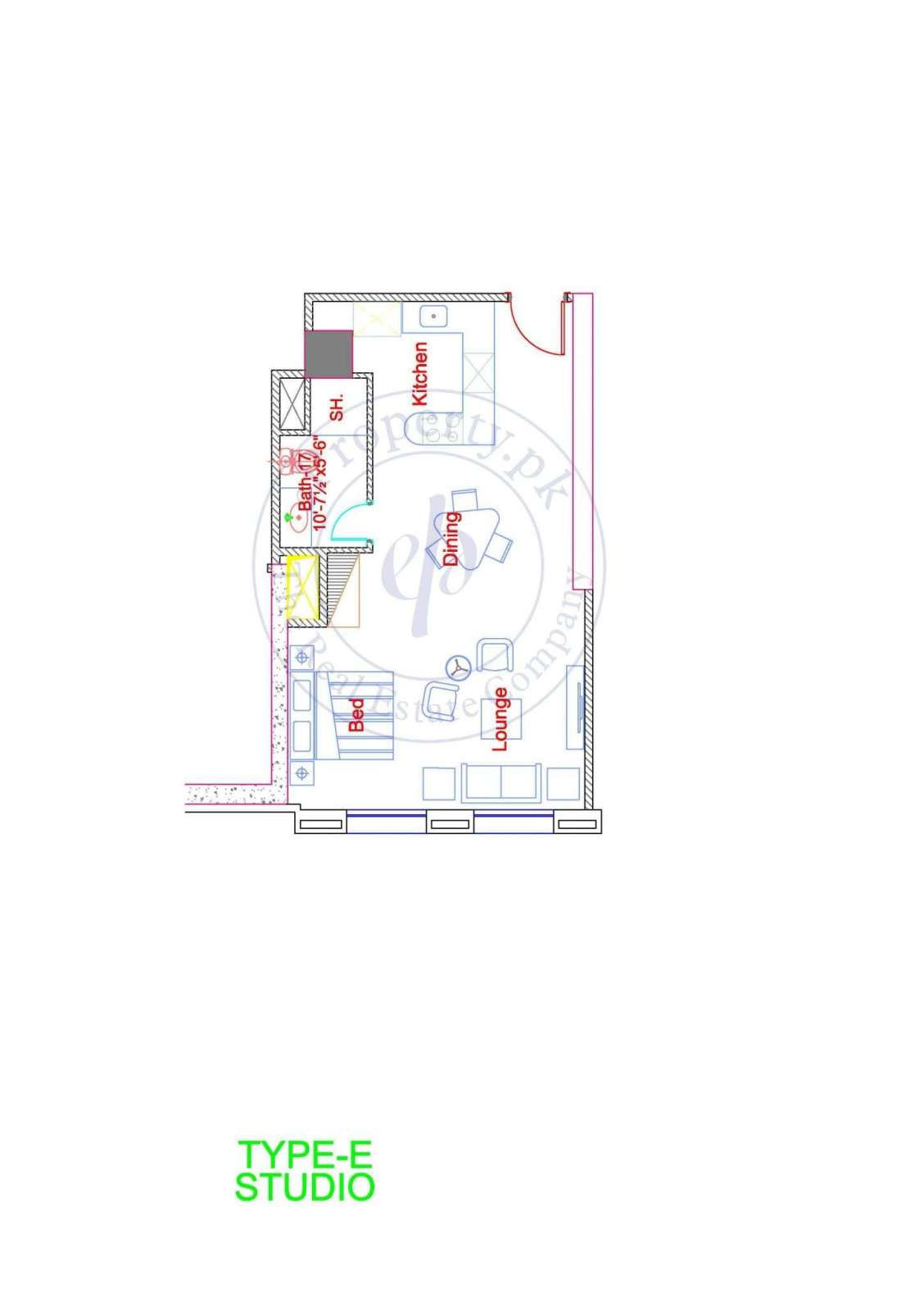 DHA Goldcrest Apartment Type E