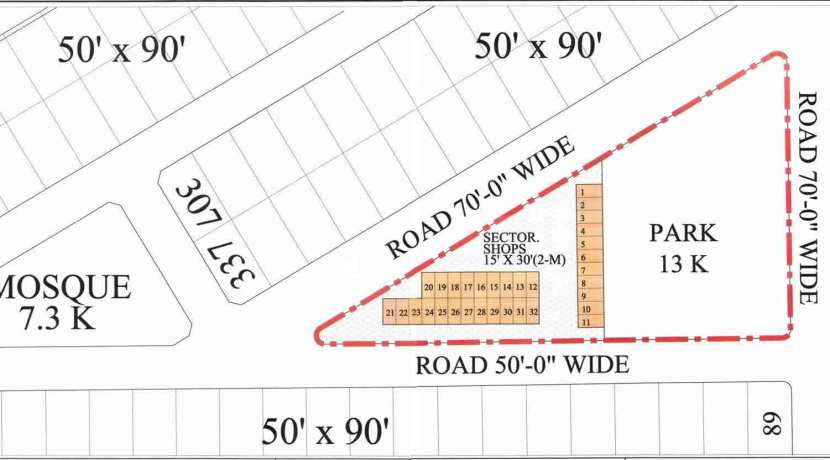 Allocation of Numbers Commercial Plots Sector X Phase 8 DHA Lahore