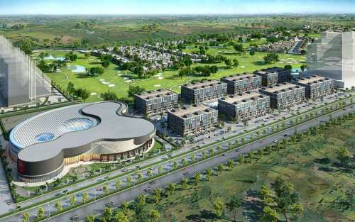 Defence Raya Golf Resort Phase III Commercial Plaza Aerial View