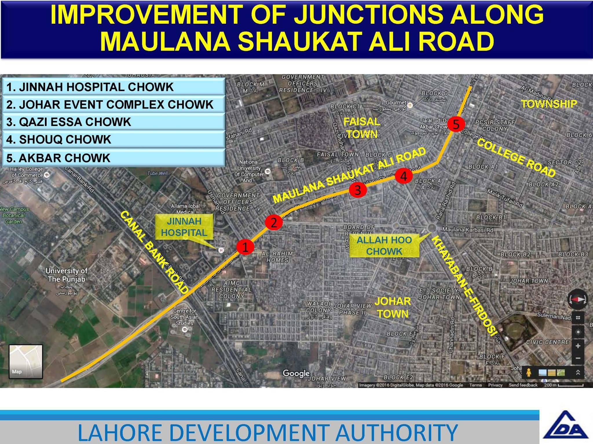 Improvement on Junction on Shoukat Ali Road