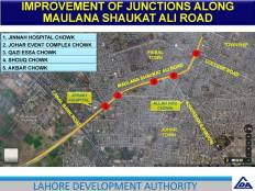 Improvement on Junction on Shoukat Ali Road