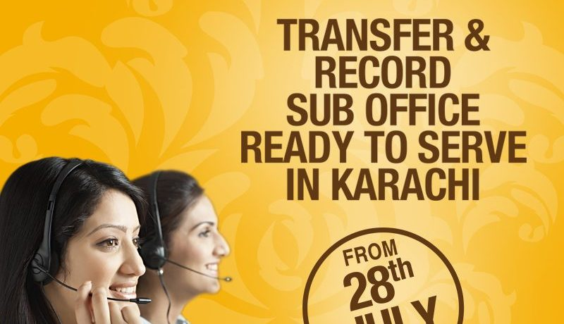 DHA Bahawalpur Transfer Office in Karachi from 28 July, 2016