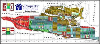 Singhar Housing Gwadar Map