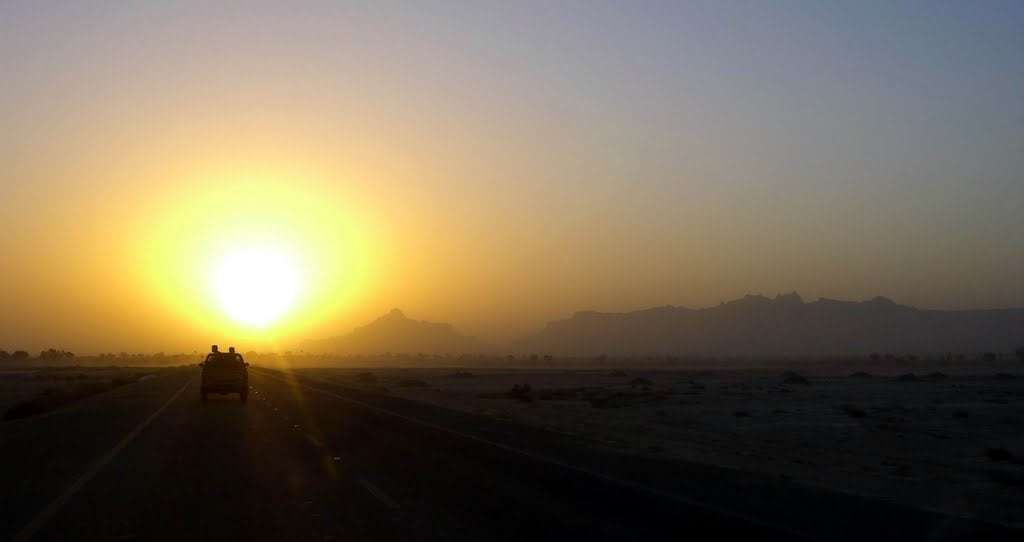 Sunset Gwadar Markran Costal Highway