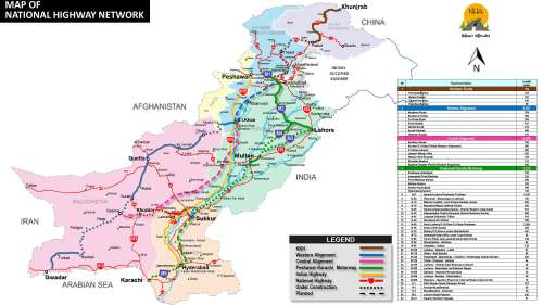 Pakistan National Highway Network
