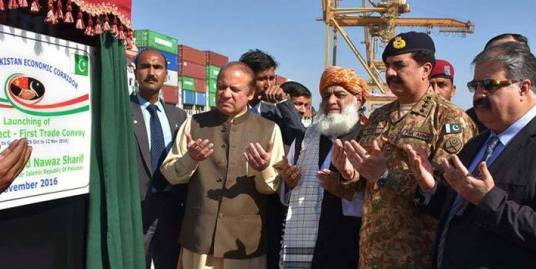 PM launches CPEC at Gwadar Port
