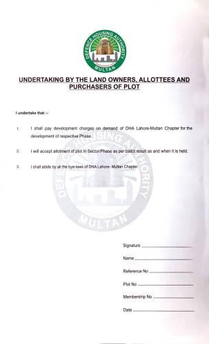 DHA Multan Membership Form-2