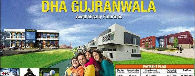 DHA Gujranwala 5 Marla Plots on installment