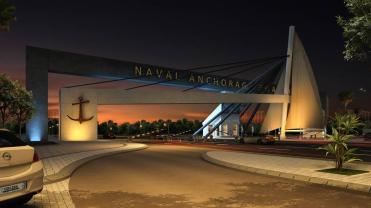 Naval Anchorage Gwadar Main Gate Render Night View