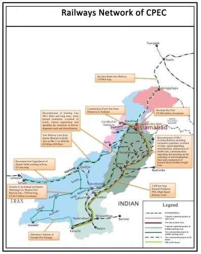 Peshawar Lahore Karachi Railway Network