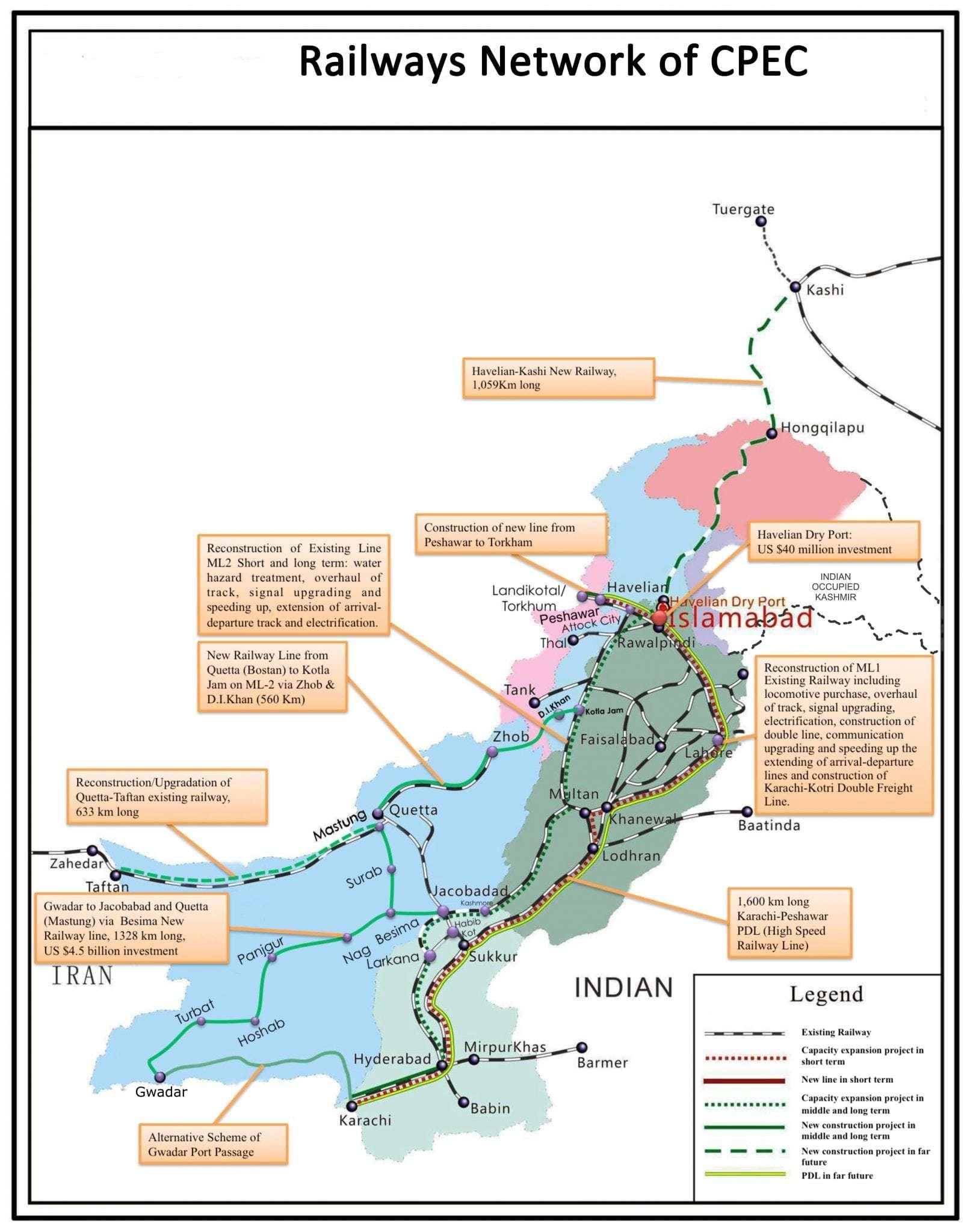 Peshawar Karachi railway project will completed 2022