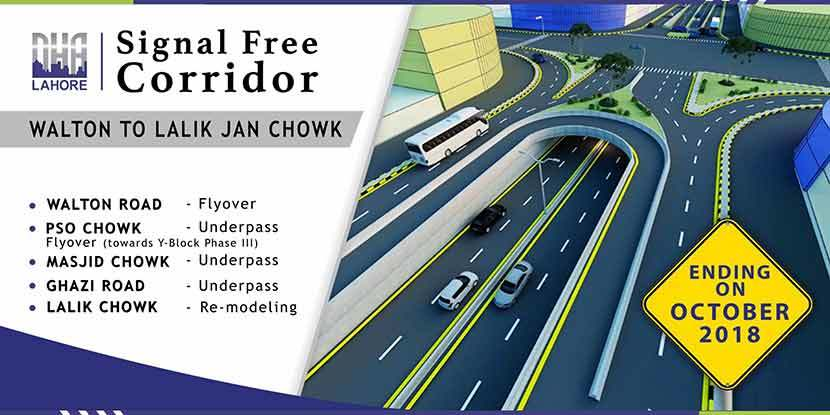 DHA Lahore Signal Free Corridor