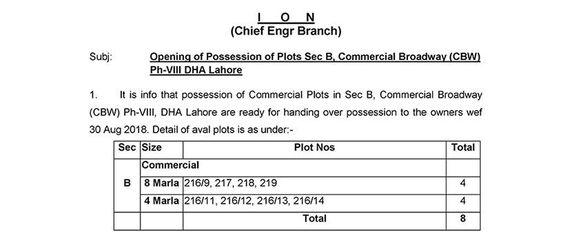 Possession Open for Commercial Broadway Sector B Phase 8 DHA Lahore