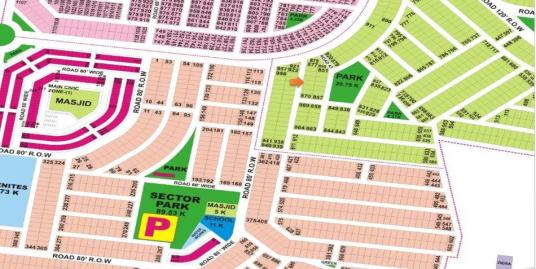 DHA Lahore Plot for Sale Phase 9 Prism Sector Q 1 Kanal # 873