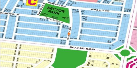 DHA Lahore Plot for Sale Phase 9 Prism Sector C 1 Kanal # 390