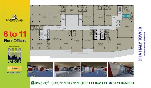 DHA Haly Tower 6th to 11th Floor Layout Plan