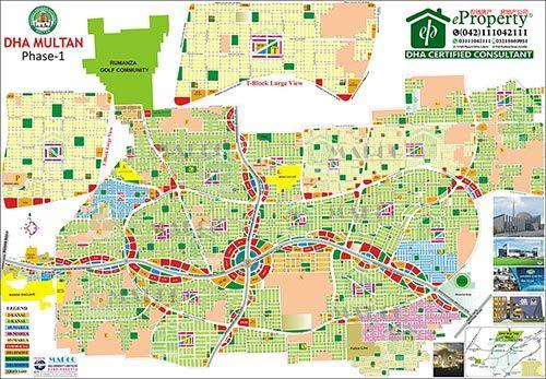 DHA Multan Map