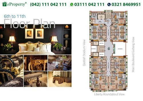 Downtown Mall and Residences 2 Beds Floor Plan
