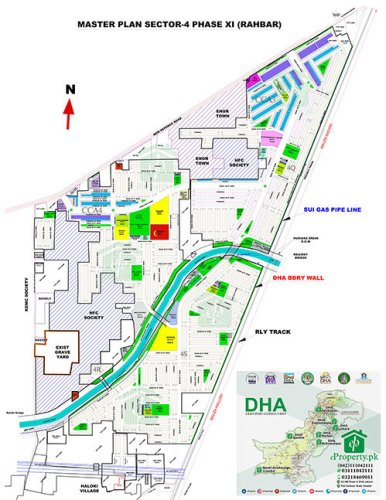 DHA Lahore Phase 11 Sector 4 Map