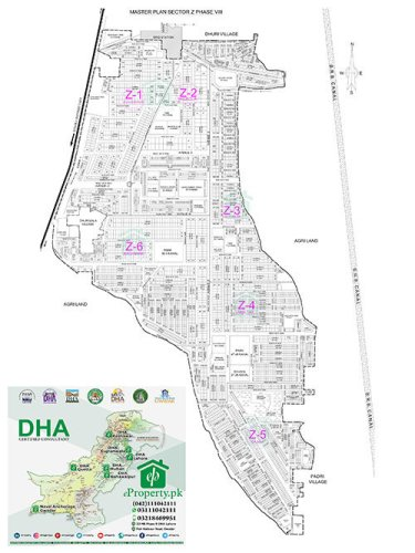 DHA Lahore Phase 8 Sector Z Map