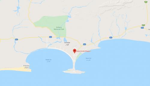 GDA ECHS Phase 1 Map Gwadar