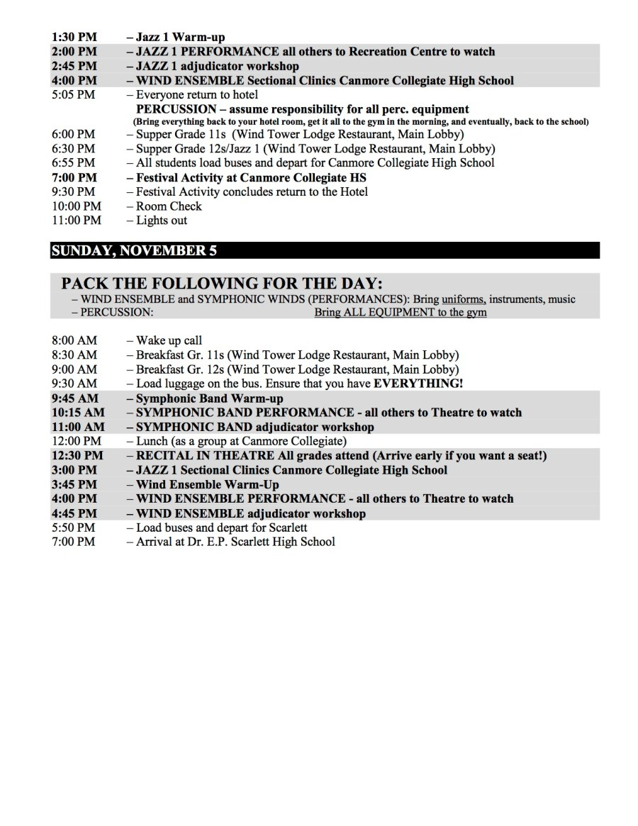 2017 VL Itinerary Oct 30th 2