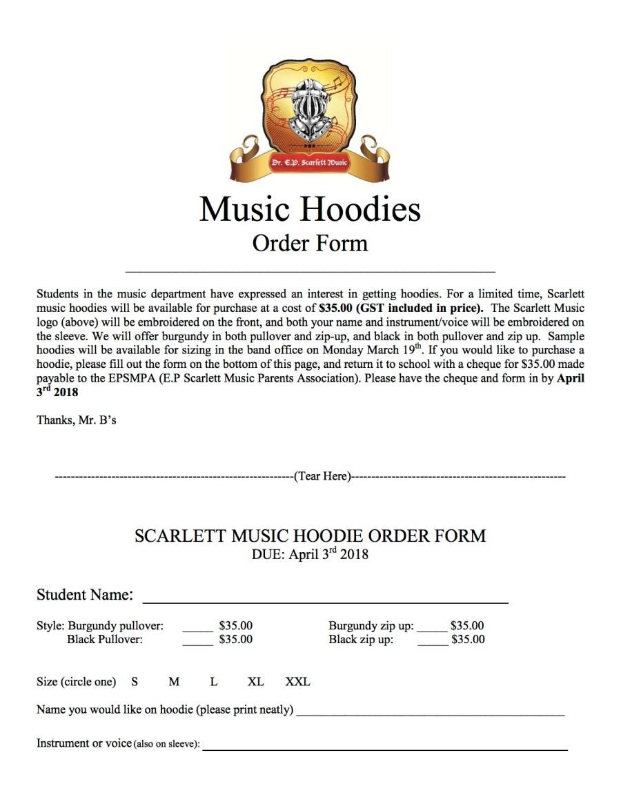 Hoodie Order