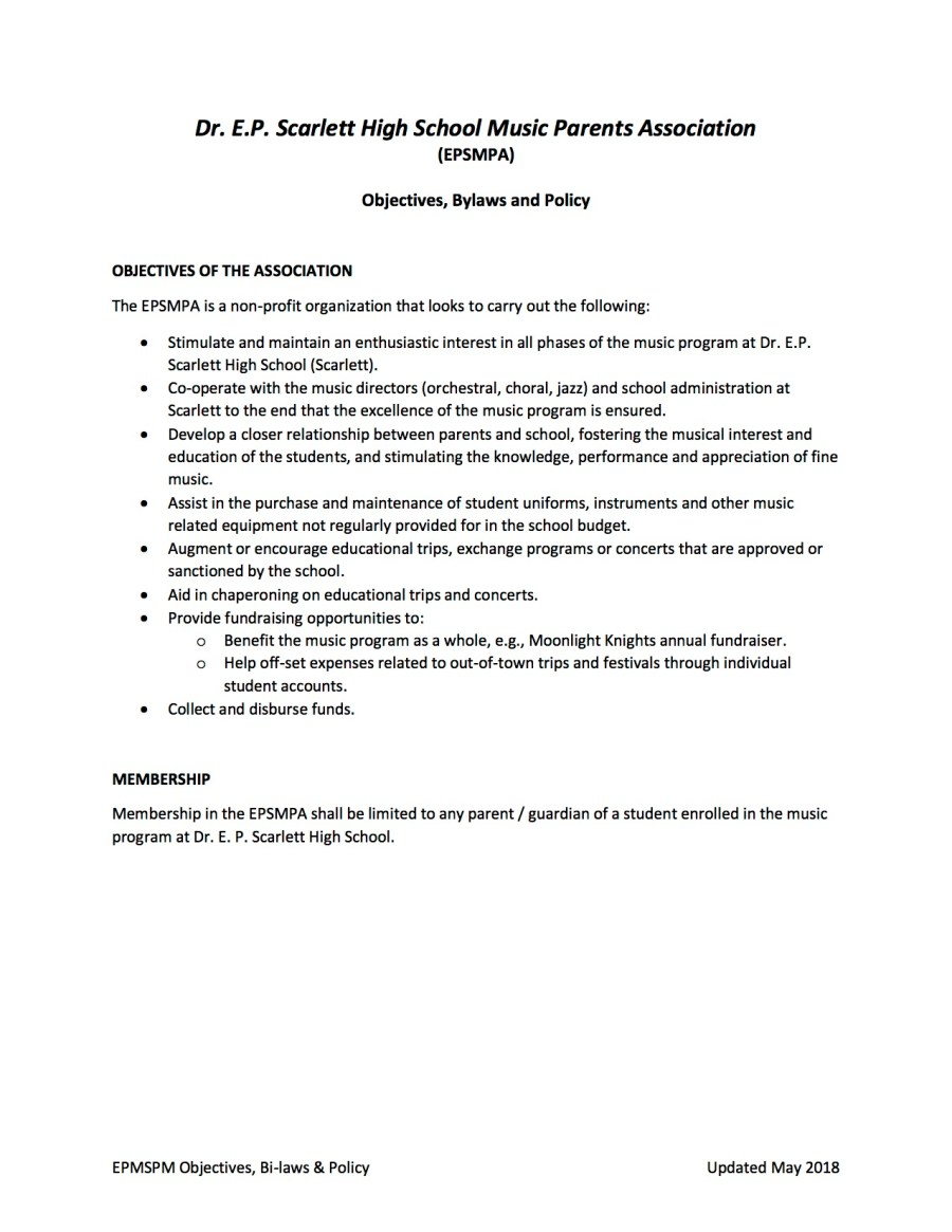 EPSMPA Policy Document - May 2018 page 1