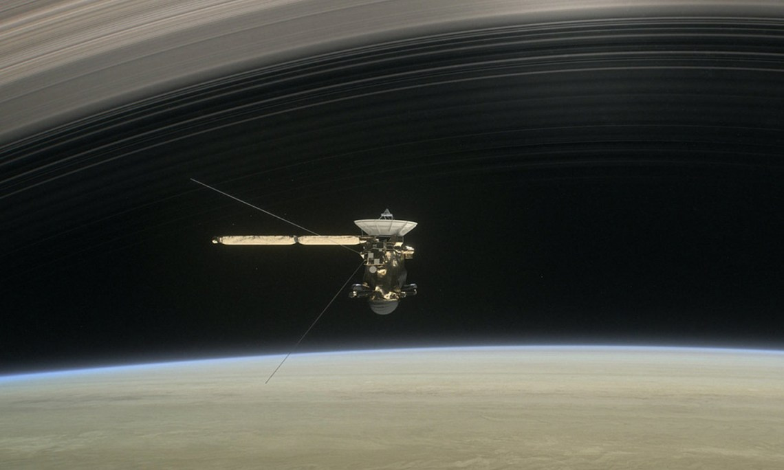 The Cassini mission was a direct consequence of Einstein's thought experiments. <em>Photo JPL/NASA</em>
