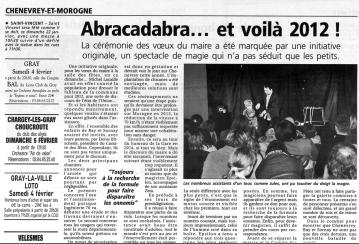 La presse de Gray - 19 janvier 2012