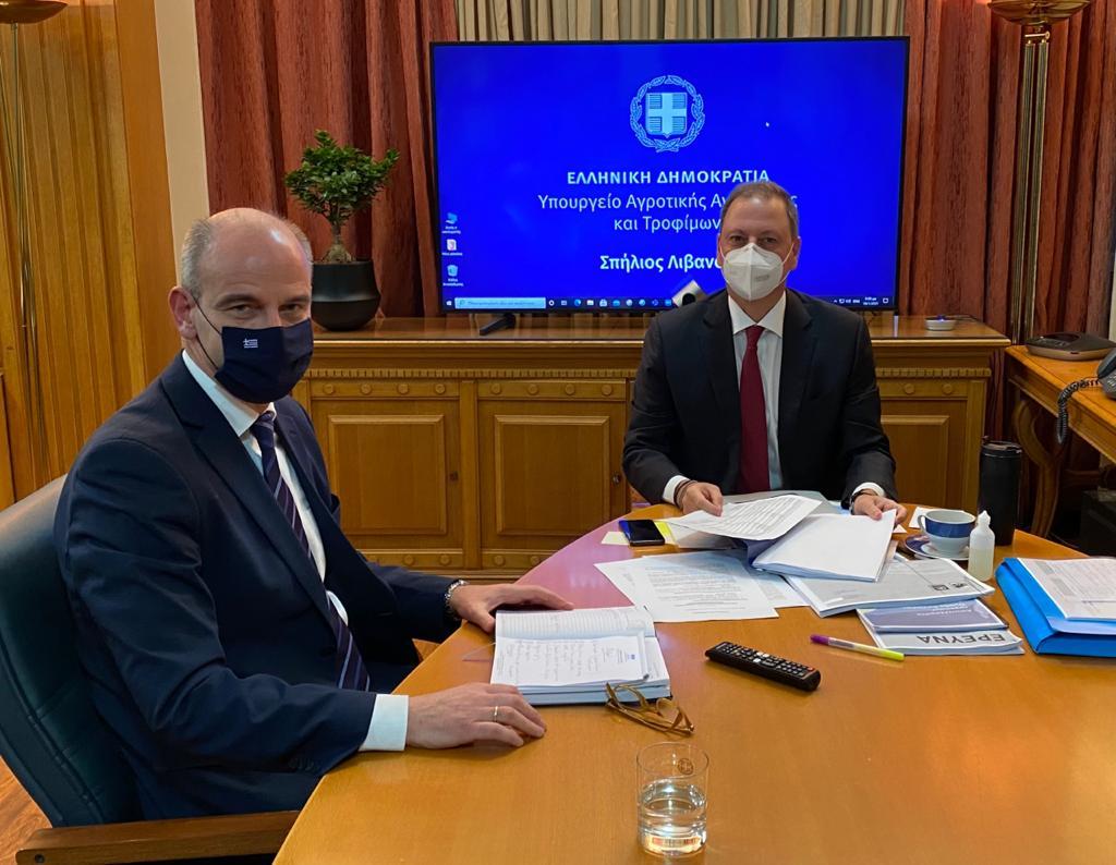 ΚΑΠ και Ταμείο Ανάκαμψης στο επίκεντρο της συνάντησης του Φ. Μπαραλιάκου με τον Υπουργό Αγροτικής Ανάπτυξης