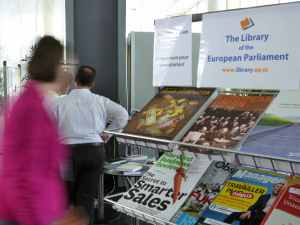 Library stand for colleagues in Luxembourg