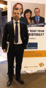 EP V-P Alexander Alvaro (DE/ALDE) at the Library stand