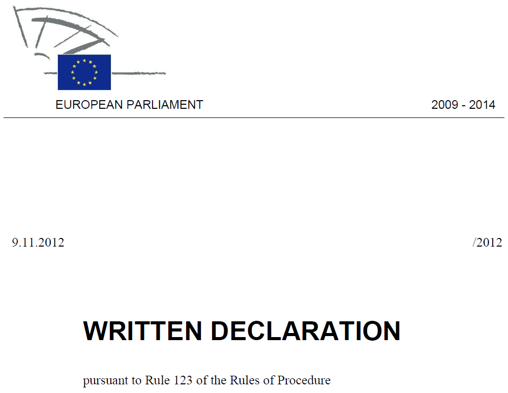 Reviewing the rules for written declarations