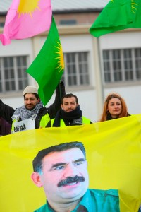 Kurdish Demonstration in front of the EP in Strasbourg