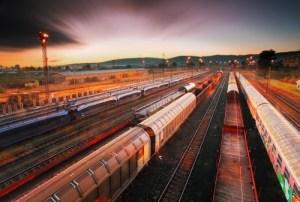 Cargo train platform