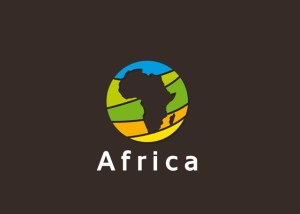 African continent on the world's map