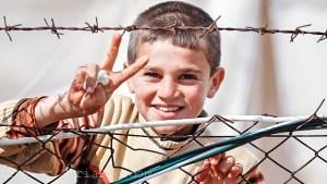 a Syrian child refugee