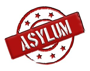 """Sign and stamp named """"ASYLUM"""""""