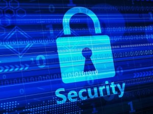 Security Lock on Hi-Tech Digital Background