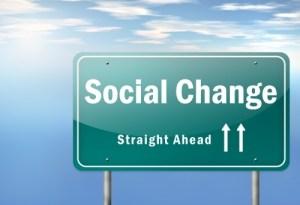 Social change sign