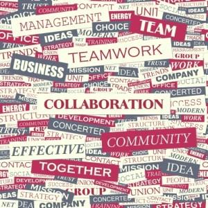 Collaboration - word cloud concept